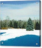 Meadow Snow Acrylic Print