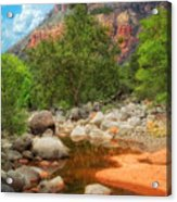 Meandering Oak Creek Canyon Acrylic Print