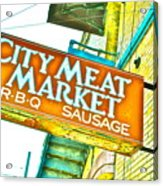 Meat On The Market Acrylic Print