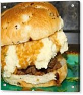 Meatloaf And Mashed Potato Sandwich Acrylic Print