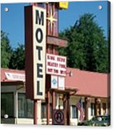 Mecca Motel Acrylic Print