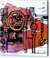 Mech Heating Up Acrylic Print by Adam Kissel