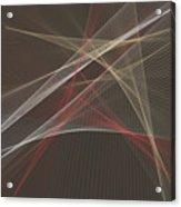 Mechanic Computer Graphic Line Pattern Acrylic Print