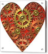 Mechanical Heart Acrylic Print by Michal Boubin
