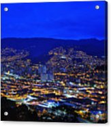 Medellin Colombia At Night Acrylic Print