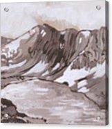 Medicine Bow Peak Historical Vignette Acrylic Print