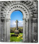 Medieval Arch And High Cross, County Clare, Ireland Acrylic Print