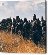 Medieval Army In Battle - 04 Acrylic Print