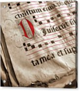 Medieval Choir Book Acrylic Print by Carlos Caetano