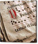 Medieval Choir Book Acrylic Print