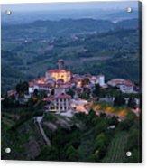 Medieval Hilltop Village Of Smartno Brda Slovenia At Dawn In The Acrylic Print