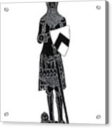 Medieval Knight Brass Rubbing Acrylic Print