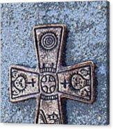Medieval Nordic Cross Acrylic Print