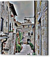 Medieval Street Acrylic Print