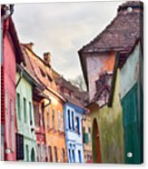 Medieval Streets Acrylic Print