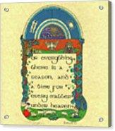Medieval Summer Sheep Shearing Acrylic Print