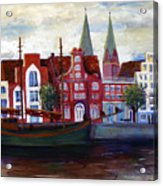 Medieval Town In Lubeck Germany Acrylic Print