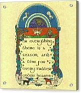 Medieval Winter Hunting Acrylic Print