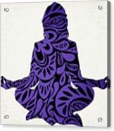 Meditate Ultraviolet Acrylic Print