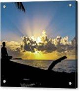Meditating At Sunrise Acrylic Print