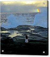 Meditating On A Rainbow Acrylic Print