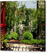 Meditation Garden Acrylic Print