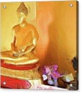 Meditation Room Buddha Acrylic Print