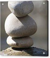 Meditation Stones Acrylic Print