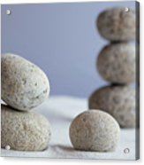 Meditation Stones On White Sand Acrylic Print