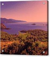 Mediterranean Sunset Glow Acrylic Print