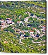 Mediterranean Village On Island Of Vis Acrylic Print