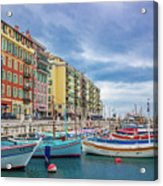 Meditteranean Life In Nice, France Acrylic Print