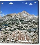 Medley Lake Basin Panorama From High Above - Sierra Acrylic Print
