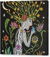 Medusa De Flores Acrylic Print
