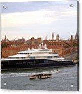 Mega Luxury Yacht The Carinthia Vll In Venice, Italy Acrylic Print