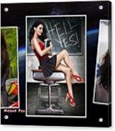 Megan Fox Acrylic Print
