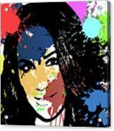 Meghan Markle Pop Art Acrylic Print