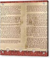 Meguilat Esther-esther Scroll The Whole Text Acrylic Print