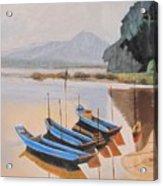 Mehkong Fishing Boats Acrylic Print