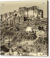 Mehrangarh Fort Sepia Acrylic Print