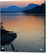 Mekong River Sunset Acrylic Print