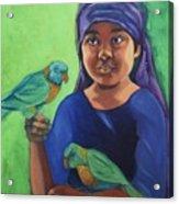 Melaque Girl Acrylic Print
