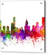 Melbourne Australia Cityscape 02 Acrylic Print