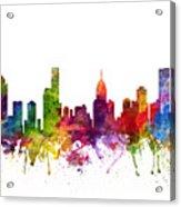 Melbourne Australia Cityscape 06 Acrylic Print