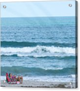 Melbourne Beach Florida On The Phone Acrylic Print