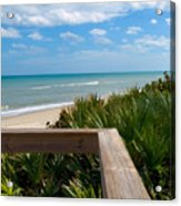 Melbourne Beach In Florida Acrylic Print