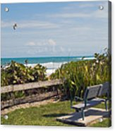 Melbourne Beach In Florida Usa Acrylic Print