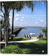 Melbourne Beach Pier In Florida Acrylic Print
