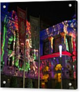 Melbourne Town Hall  With Christmas Light 1 Acrylic Print
