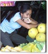 Melon Girl Acrylic Print